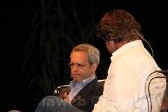 Enrico Mentana con Filippo Rossi a Caffeina
