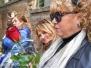 Il feretro di Fabrizio Frizzi a Bassano Romano