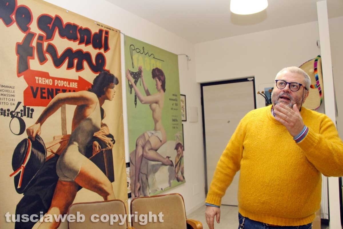 Viterbo - Fausto Bertinotti in visita alla redazione di Tusciaweb