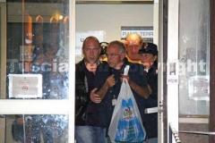 Vincenzo Ventura all\'uscita della questura