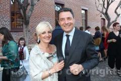 Il sindaco Marini e la moglie Emanuela Appolloni