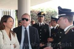 Il capo della Digos Monia Morelli, il vicequestore Vincenzo Cianchella e il comandante dei carabinieri di Civita Castellana Stefano Leuzzi
