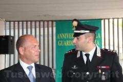 Il capo della squadra mobile Fabio Zampaglione con il capitano dei carabinieri della compagnia di Viterbo Raffaele Gesmundo