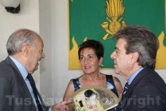 A sinistra il presidente della Fondazione Carivit Aldo Perugi