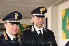 A destra il colonnello Marco Bianchi