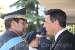 Il colonnello Paolo Occhipinti e il sindaco Giulio Marini