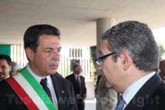 Il sindaco Marini e il presidente della Provincia Marcello Meroi