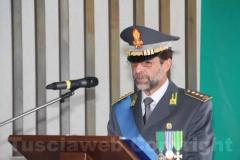 Il colonnello Occhipinti legge il suo discorso