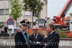 Il comandante provinciale dei carabinieri Gianluca Dell\'Agnello, il procuratore capo Alberto Pazienti e il sostituto procuratore Franco Pacifici