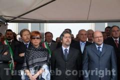 L\'assessore Birindelli, il presidente della Commissione Agricoltura Francesco Battistoni, il consigliere regionale Giuseppe Parroncini