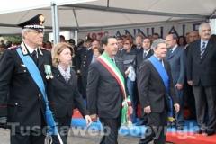 Il comandante Dell\'Agnello, il prefetto Scolamiero, il sindaco Marini e il presidente Meroi
