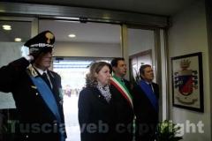 Il comandante Dell\'Agnello, il prefetto Scolamiero, il sindaco Marini e il presidente Meroi rendono omaggio ai caduti