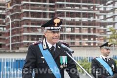 Il discorso del comandante provinciale Dell\'Agnello