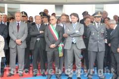 Il capo della mobile Fabio Zampaglione, l\'assessore Santucci e il colonnello Occhipinti