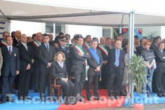 Il comandante della forestale Paolo Di Girolamo, il prefetto, il sindaco, il presidente della Provincia e il presidente del tribunale