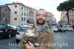 Filippo col segretario del Pd Andrea Egidi