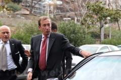 Gianfranco Fini arriva alla sede