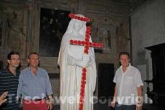 Il sindaco Marini, il vicesindaco Contardo e l\'assessore Sabatini con la Santa