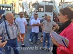 Contando Cesarini con il vicesindaco Luisa Ciambella a piazza del Comune