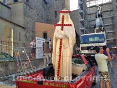 La statua di Santa Rosa a San Sisto