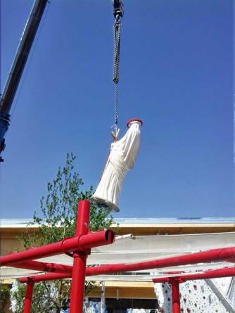 Fiore del Cielo a Expo, la statua della Santa