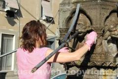 Viterbo civica - Fontan di piano ripulita
