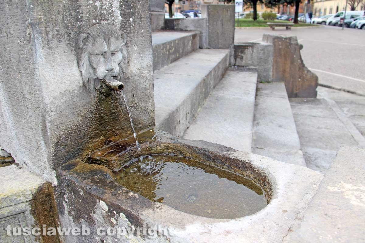 Viterbo - La fontana di piazza della Rocca