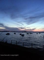 Il lago di Bolsena al tramonto - Aldo