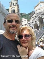 Un selfie da Amalfi da Pina Faraoni e Luigi Calcagni di Sutri