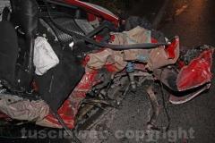 Il frontale sulla Cassia - La Porsche distrutta