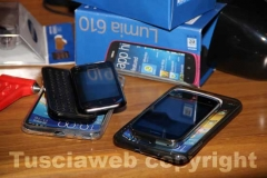 I cellulari provento di furto