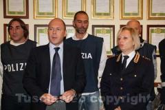 Zampaglione e Cordella alla conferenza indetta per illustrare i dettagli dell\'operazione