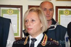 Il capo della polizia di Tarquinia Gina Cordella