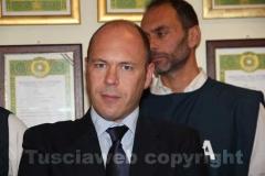 Il capo della squadra mobile di Viterbo Fabio Zampaglione