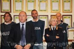 Zampaglione e Cordella alla conferenza indetta per illustrare i dettagli dell'operazione