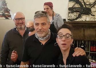 George Clooney al ristorante 13 Gradi