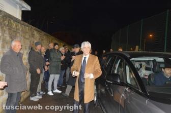 Tarquinia - L'arrivo allo stadio Cardoni di Gianni Rivera