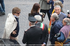 Gigi Proietti accolto a palazzo dei Priori