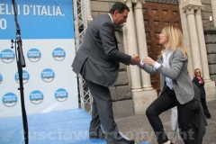 Giulio Marini e Giorgia Meloni