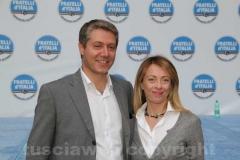 Giorgia Meloni con Federico Fracassini