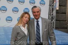 Giorgia Meloni e Marcuccio Marcucci