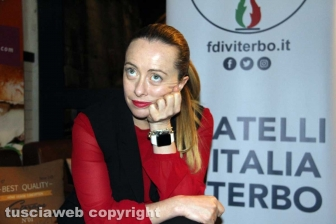 Giorgia Meloni a Viterbo per gli auguri di Natale di FdI