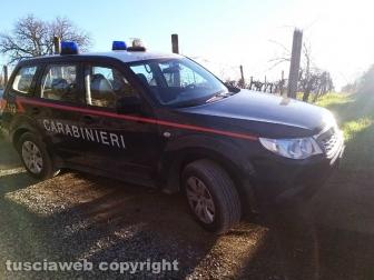 Ragazza trovata morta a Montefiascone - Carabinieri sul posto