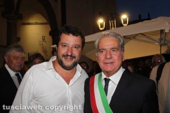 Il ministro Matteo Salvini con il sindaco Arena