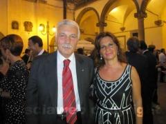 Il senatore Oreste Tofani e la senatrice Laura Allegrini