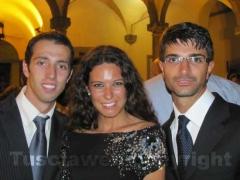 L\'assessore Daniele Sabatini con Antonella Sberna e Matteo Achilli