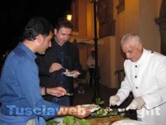 Giacobbo e Timperi al buffet