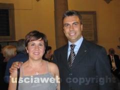 Il comandante della Forestale Paolo Di Girolamo con la moglie