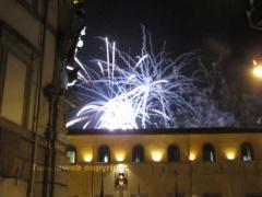 I fuochi d'artificio su Palazzo dei priori