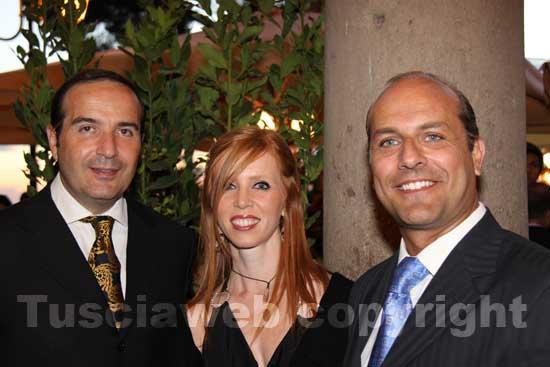 Stefano Vignati, Valeria Monacelli e Claudio Ferri del Tuscia operafestival